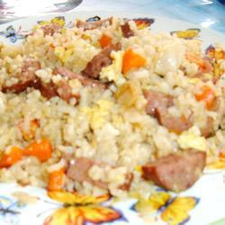 Рецепт Рис с колбасой