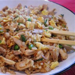 Рецепт Жареный рис с курицей