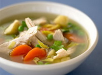 Рецепт Овощной суп с курицей