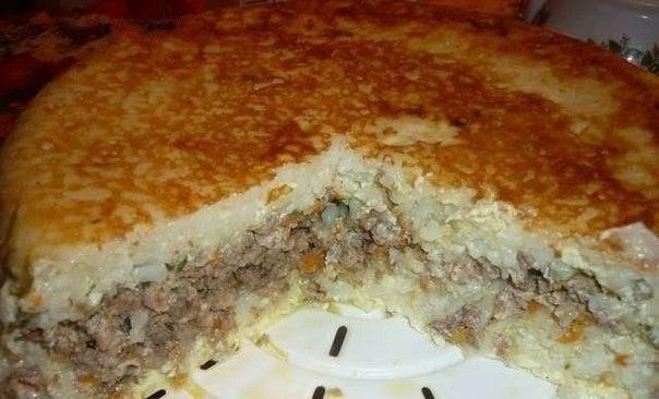 Рецепт Рисовая запеканка с мясом