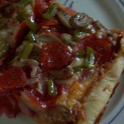 Рецепт Пицца на тонком тесте с овощами