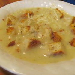 Рецепт Картофельный суп с луком пореем