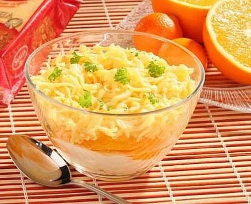 Рецепт Салат с сыром и апельсинами