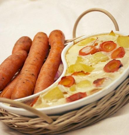 Рецепт Картофельно-морковная запеканка