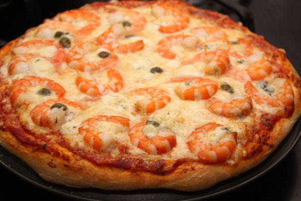 Рецепт Пицца с креветками