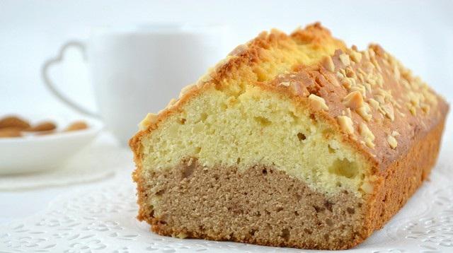 Рецепт Двухслойный кекс с орехами