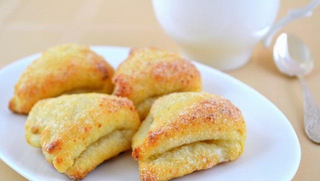 Рецепт Творожное печенье Ушки