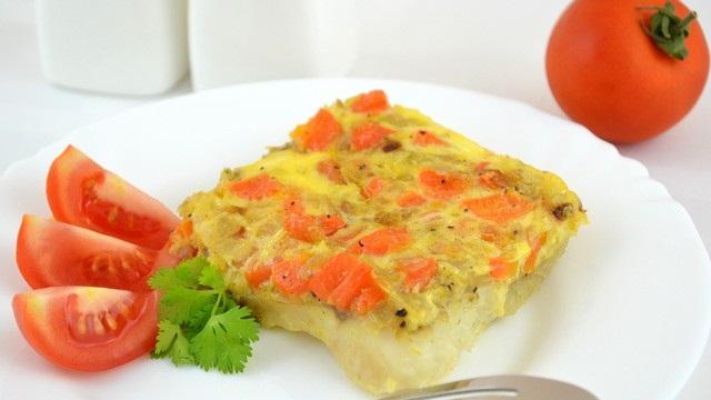 Рецепт Рыба, запеченая с морковью и луком