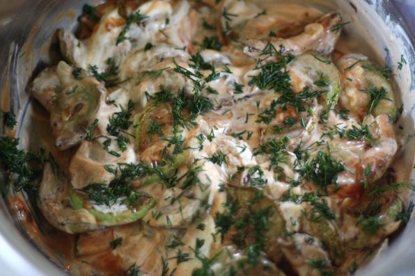 Рецепт Кабачки в томатно-сметанном соусе