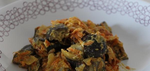 Рецепт Баклажаны в сметанном соусе