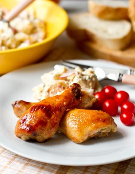 Рецепт Куриные ножки в медово-горчичном маринаде