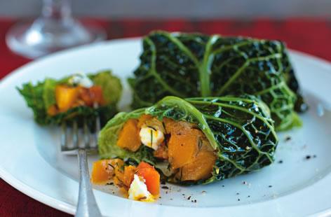 Рецепт Кабачки с капустой и фетой