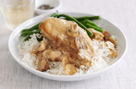 Рецепт Бефстроганов из курицы с грибами