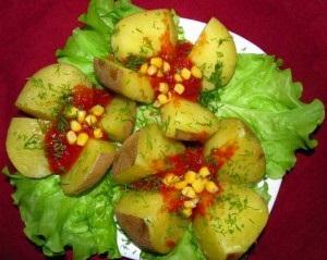 Рецепт Картофель в мундире с соусом