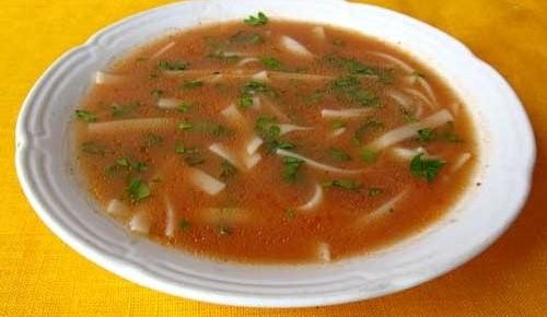 Рецепт Суп с лапшой и томатной пастой