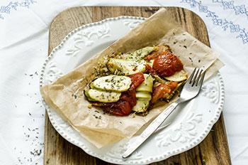 Рецепт Гратен из кабачков и помидор
