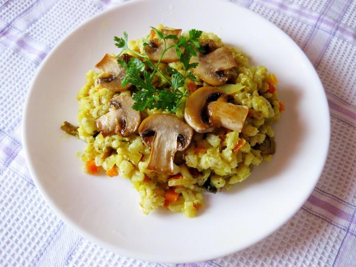Рецепт Плов из перловки с грибами
