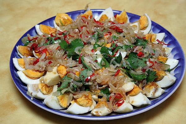 Рецепт Тайский салат с яйцом