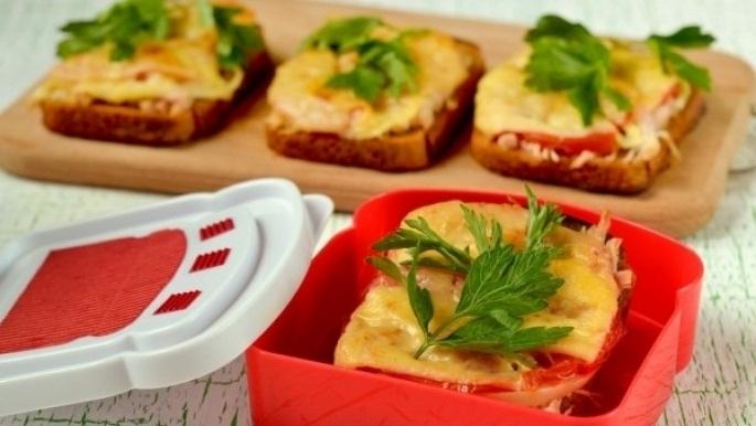 Рецепт Горячие бутерброды со свининой