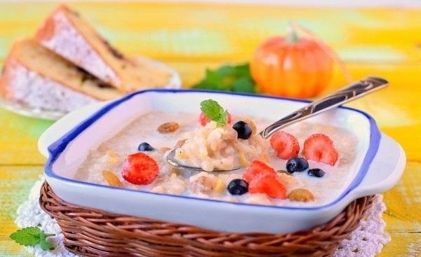 Рецепт Молочная рисовая каша с тыквой в мультиварке