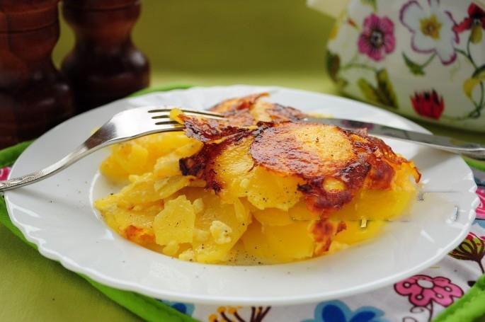 Рецепт Картофель со сметаной в мультиварке