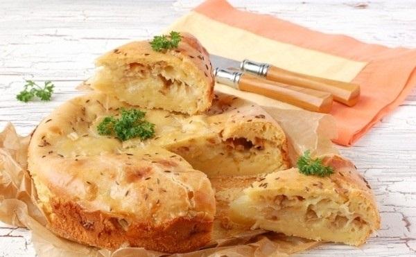 Рецепт Ленивая кулебяка с капустой
