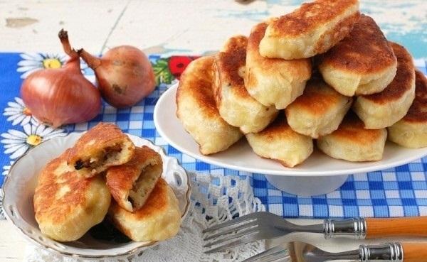 Рецепт Жареные пирожки с картофелем и грибами