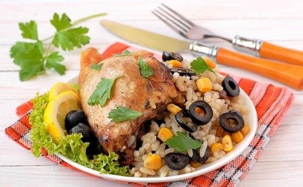 Рецепт Курица на рисовой подушке