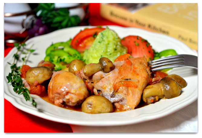Рецепт Куриные окорочка по-лионски