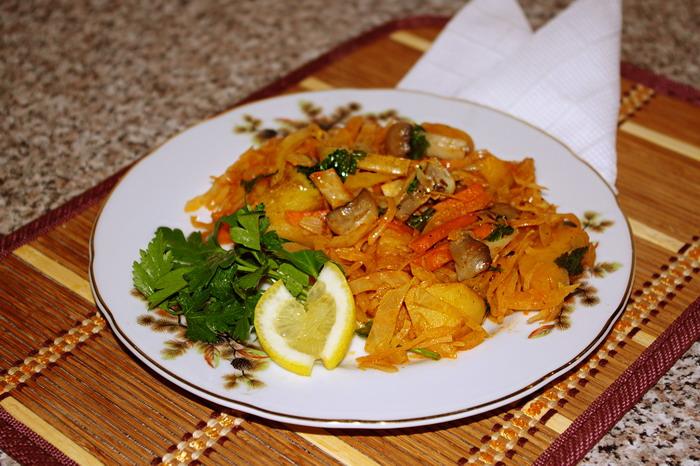 Рецепт Овощное рагу с картофелем