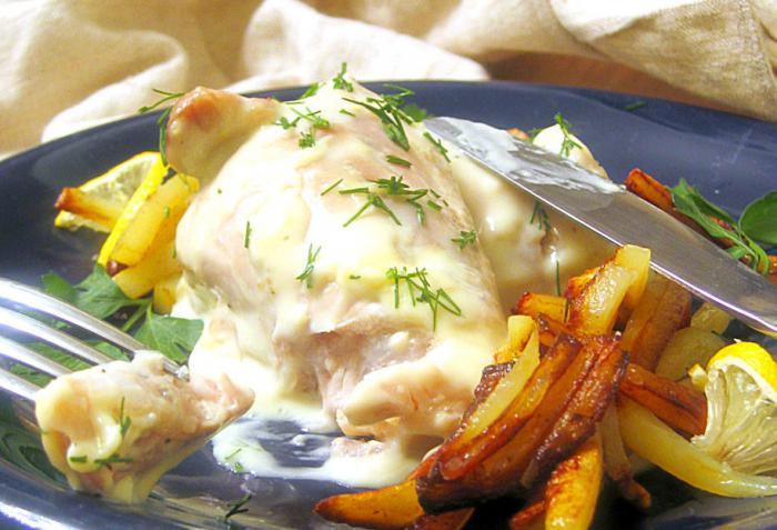 Рецепт Курица в сырном соусе