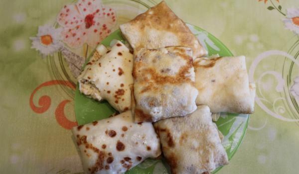 Рецепт Блины с семгой и сыром