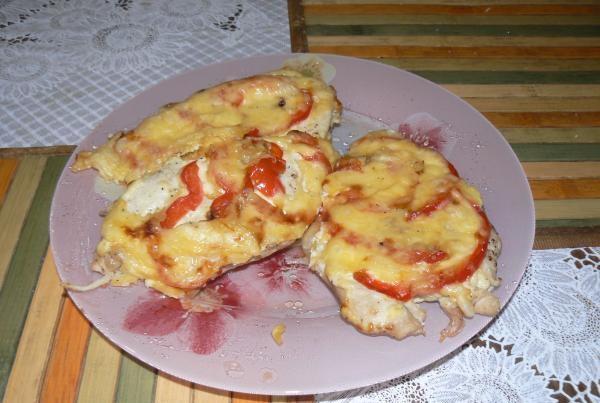 Рецепт Куриные грудки с болгарским перцем