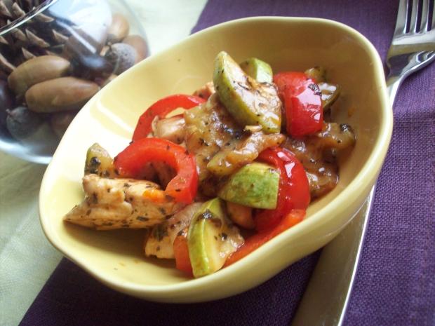 Рецепт Куриное филе с кабачками