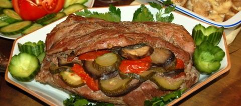 Рецепт Свинина с овощами, запеченная в фольге.