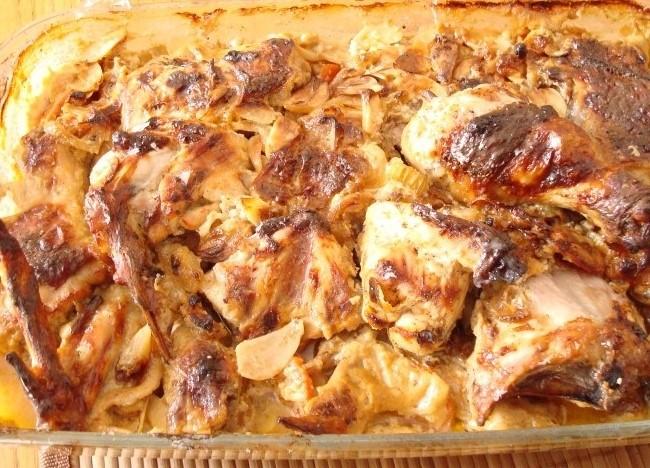 Рецепт Курица с овощами в сливочном соусе