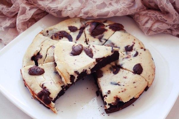 Рецепт Шоколадно-банановый брауни-чизкейк