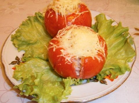 Рецепт Помидоры, фаршированные креветками