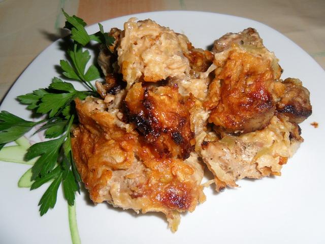 Рецепт Свинина под яблочным соусом