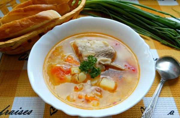 Рецепт Суп со свиными ребрышками