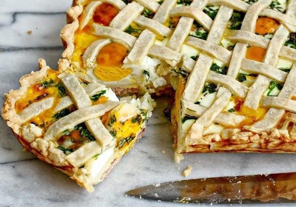 Рецепт Пирог с картошкой, яйцами и ветчиной