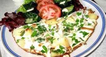 Рецепт Омлет с картофелем и зеленью