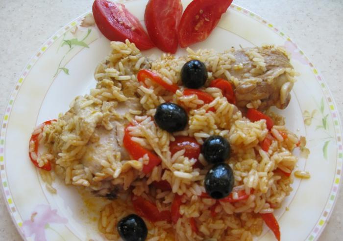 Рецепт Курица с рисом по-испански