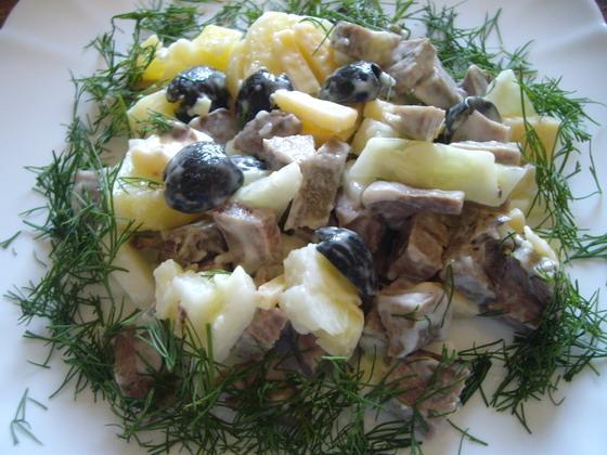 Рецепт Картофельный салат со свиным языком