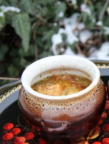 Рецепт Американский суп с сырной корочкой