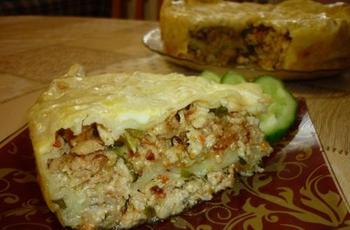 Рецепт Мясной пирог из лаваша