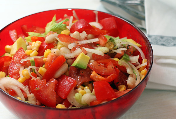 Рецепт Салат с авокадо по-техасски