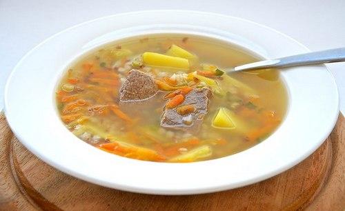 Рецепт Суп с гречкой и говядиной