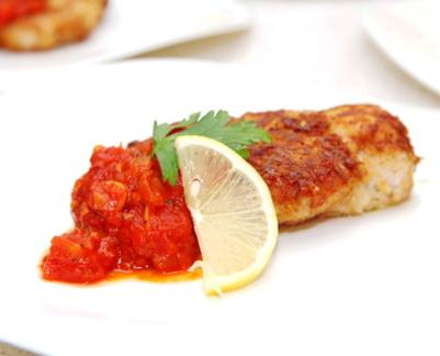 Рецепт Курица Миланезе с томатным соусом